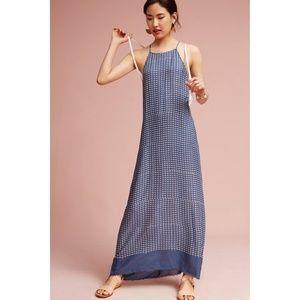 Anthro Corey Lynn Calter Blue Print Maxi Dress